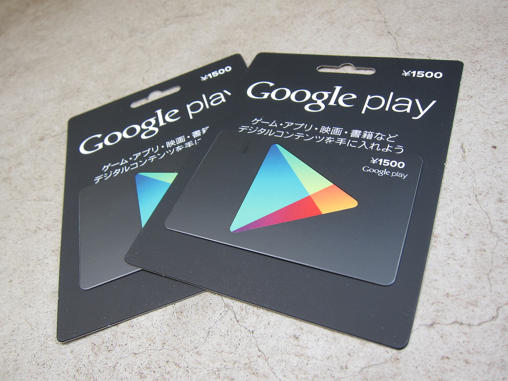 Google Playギフトカードがファミマで発売!ってことで買ってきた!