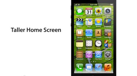 「iPhone5」が4インチされた場合にどうなるかをわかりやすく説明してくれる動画