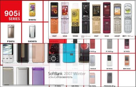 2007年秋冬モデル発売スケジュール。