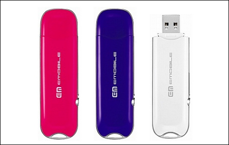 イー・モバイル、3色カラーのデータ端末「D22HW」を発売。