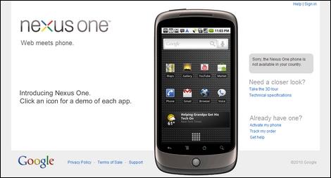 GooglePhone「Nexus One」、1週間で販売台数はたった2万台