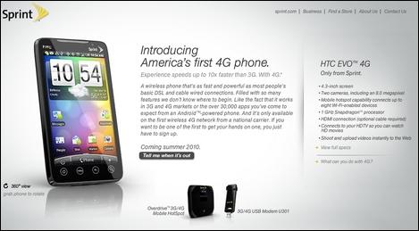 「HTC EVO 4G」がバカ売れ?