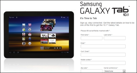 Verizon、LTE対応の「Samsung GALAXY Tab 10.1」を発表!