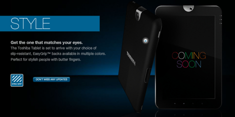 東芝、Androidタブレット3.0を搭載したタブレットPCを発売へ。