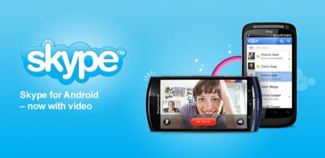 Android向け「Skype」がビデオ通話とSMSをサポート。