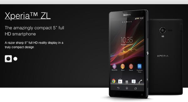 ソニー、「Xperia ZL」を発表!赤外線通信に対応。