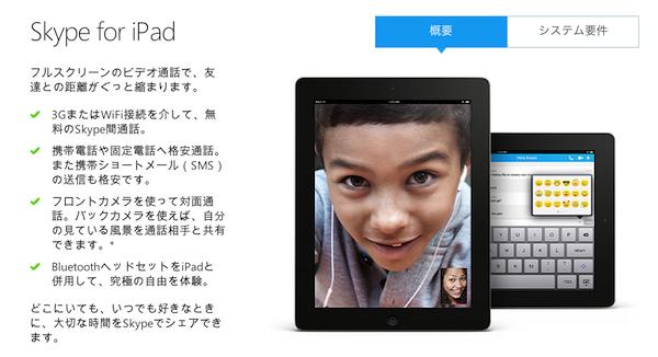 Skype、Skype for iPadをアップデートー自動での通話再開に対応
