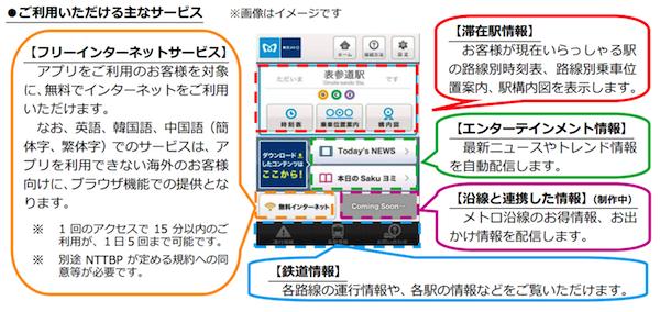 東京メトロ、無料の無線LANサービスを14日よりスタートー構内図や時刻表などを配信