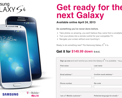 GALAXY S4が米国にて4月24日より発売ー日本ではNTTドコモが来月中旬にも発表か