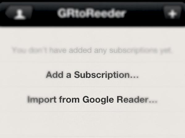 GoogleリーダーからiOS向けRSSリーダーアプリ「Reeder」に移行する方法