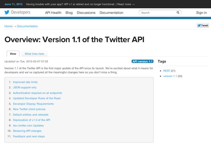 【悲報】Twitter API 1.0の提供が終了ー各Twitterアプリに影響