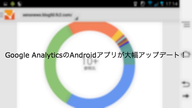 Google AnalyticsのAndroidアプリが大幅アップデート!リアルタイム解析が拡充しておる!