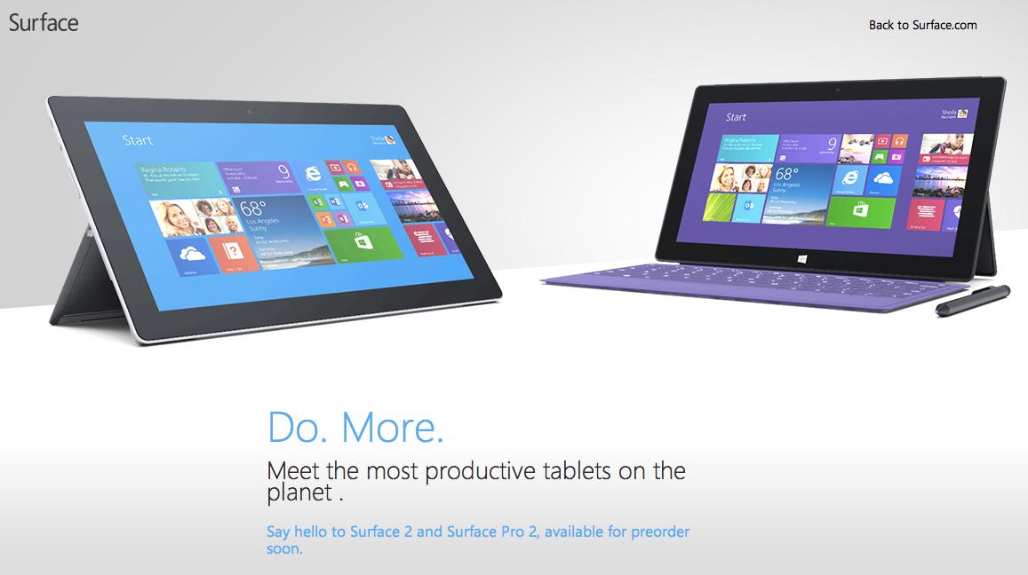 Surface Pro 2とSurface 2が正式発表!10月22日発売!
