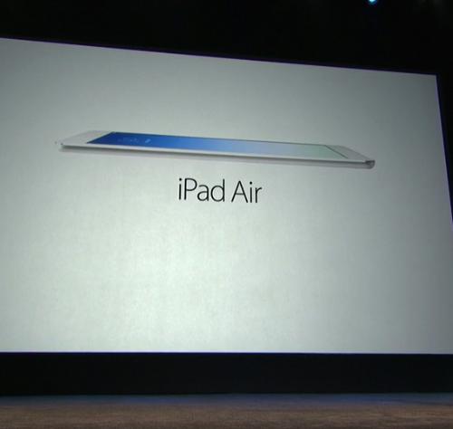 【速報】iPad Airが発表!11月1日より発売!価格は5万1800円から