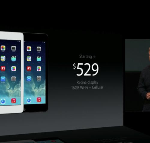【速報】iPad mini Retinaディスプレイモデルが発表!11月中に発売開始!価格は4万1900円から