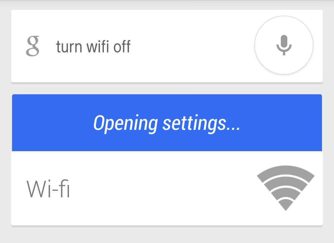 Androidの音声コマンドでWi-Fiと機内モード、GPSをカンタンにオン、オフできるようになった!