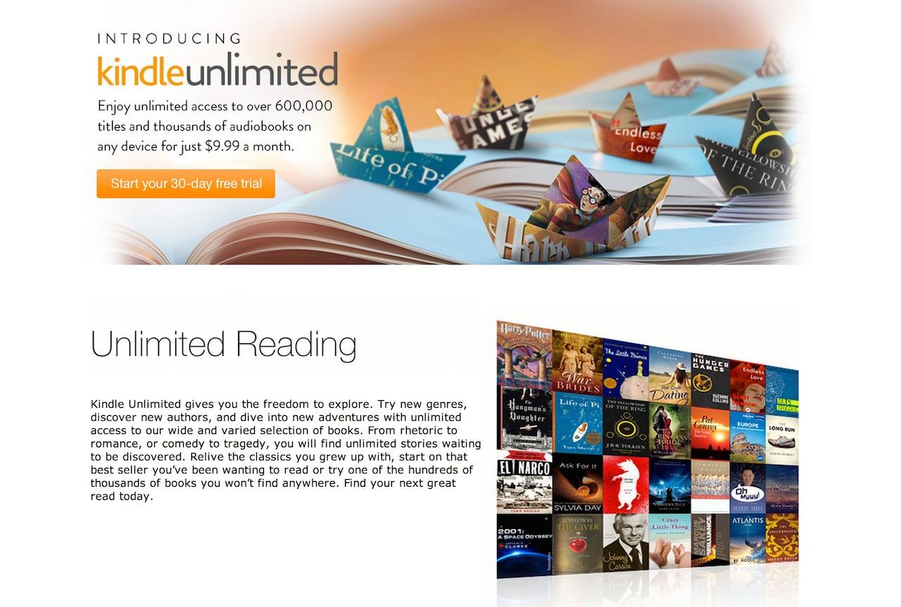 Amazon、月額1000円で電子書籍読み放題の「Kindle Unlimited」を正式発表ー日本は非対応