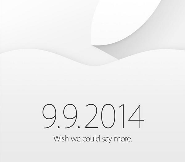 アップル、9月9日にイベントを開催すると発表!iPhone 6やiWatchなどを発表か