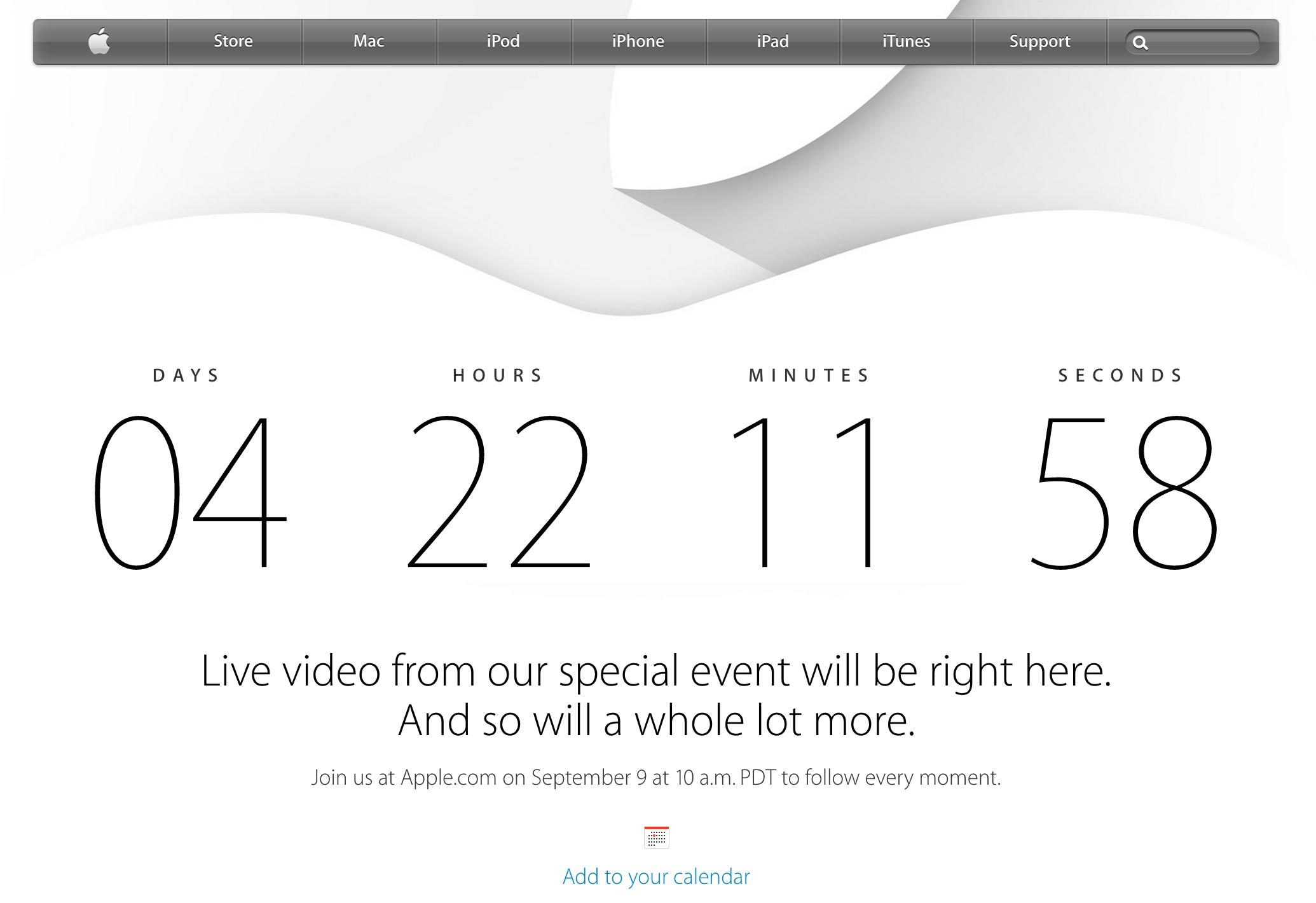 アップル、「iPhone 6」発表イベントのライブ配信を実施!