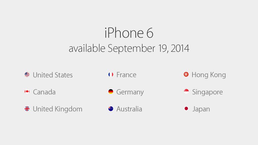 iPhone 6の発売日は9月19日に!