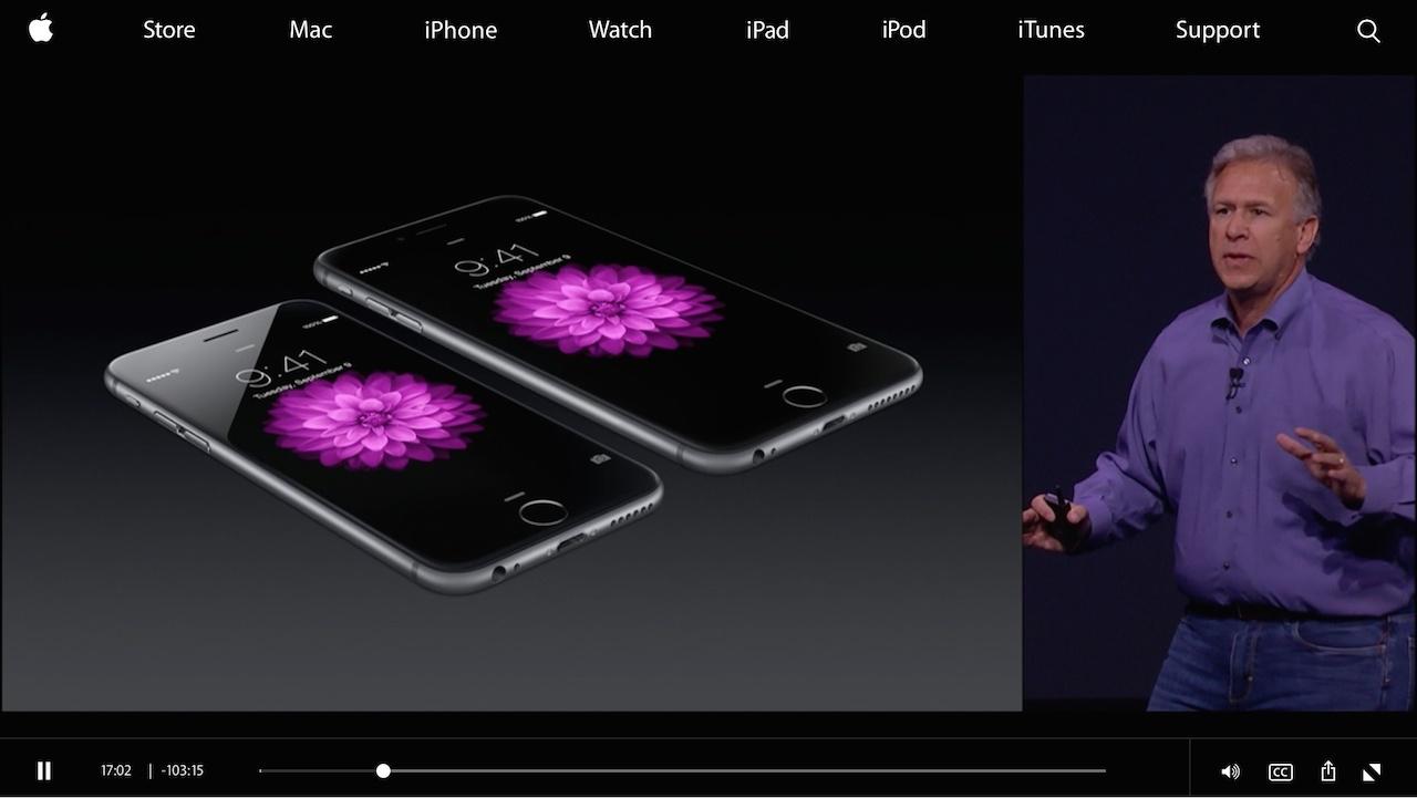 アップル、iPhone 6やApple Watchなどの発表イベントの動画を公開