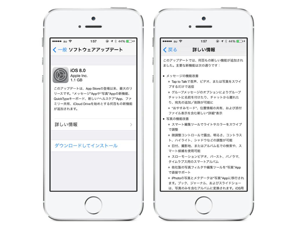 速報:アップル、iOS 8の配信を開始!文字入力の改善やヘルスケアなどの新機能が追加!