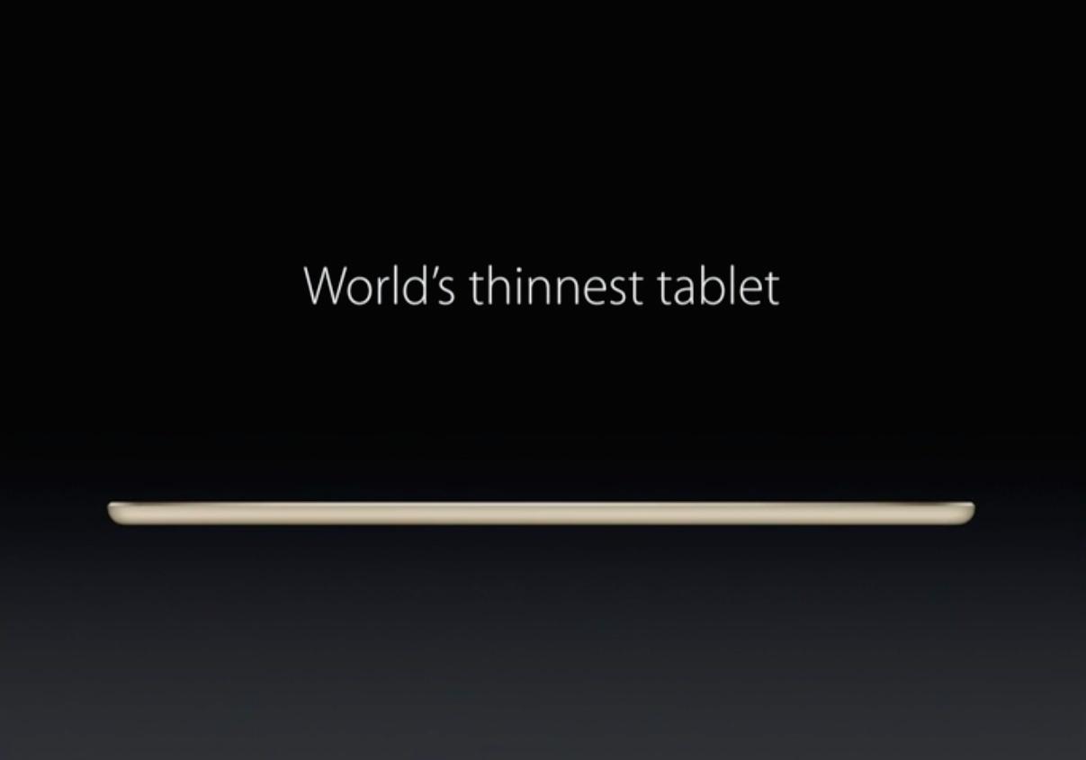 速報:iPad Air2が発表ー指紋認証に対応し、世界最薄のタブレットに