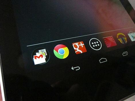 「Nexus 7」のデフォルトブラウザはGoogle Chromeに。