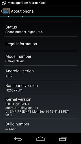 「GALAXY Nexus」と「Nexus S」にAndroid 4.1.2へのアップデートが配信開始