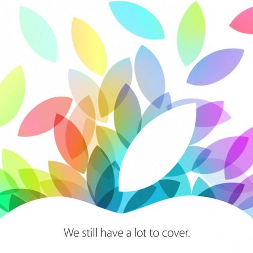 Apple、日本時間10月23日にイベントを開催!iPad 5とiPad mini 2を発表か