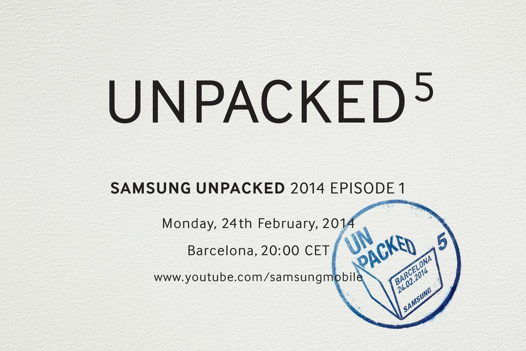 サムスン、GALAXY S5を2月25日に発表かーUNPACKED 5を開催