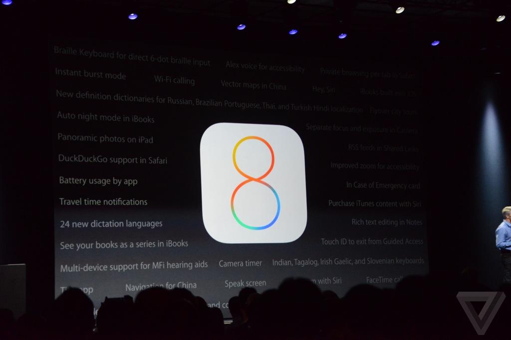 【速報】Apple、iOS 8を正式発表ーアップデートの配信時期は秋ごろに!