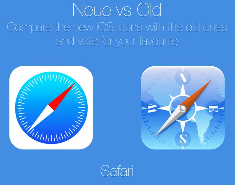 iOS7のアイコンと旧アイコンはどっちが人気!?人気投票サイトが登場!