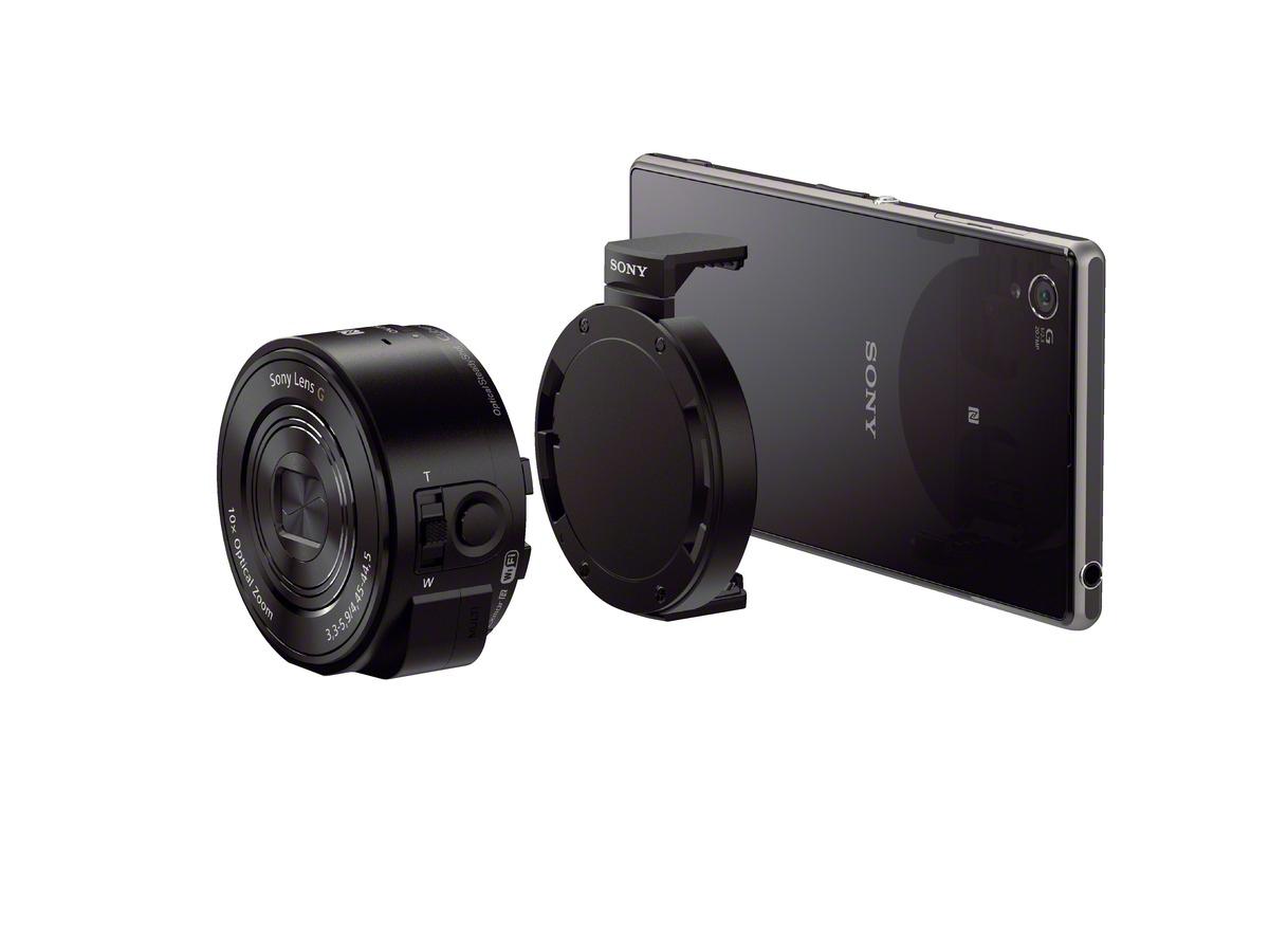 ソニー、レンズ型デジカメDSC-QX10/DSC-QX100を発表!スマホで手軽に光学ズームが使える!