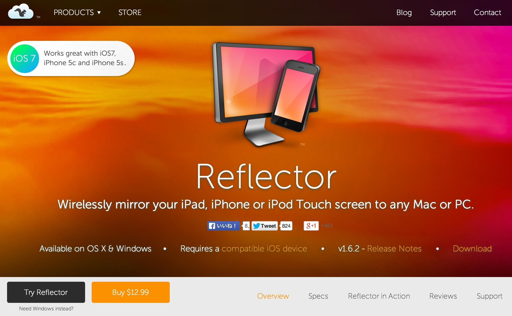 iPhoneの画面を動画でキャプチャできるアプリ「Reflector(リフレクター)」の使い方