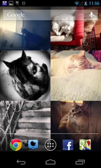 Instagramに投稿された画像をライブ壁紙にできる「Wallstagram Live Wallpaper」