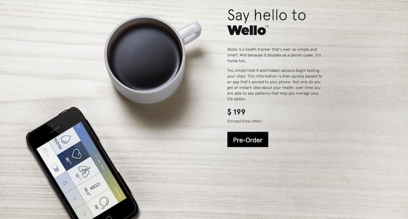 iPhoneで体温や血圧、心拍数などを測定できるケース「Wello」の事前予約がスタート