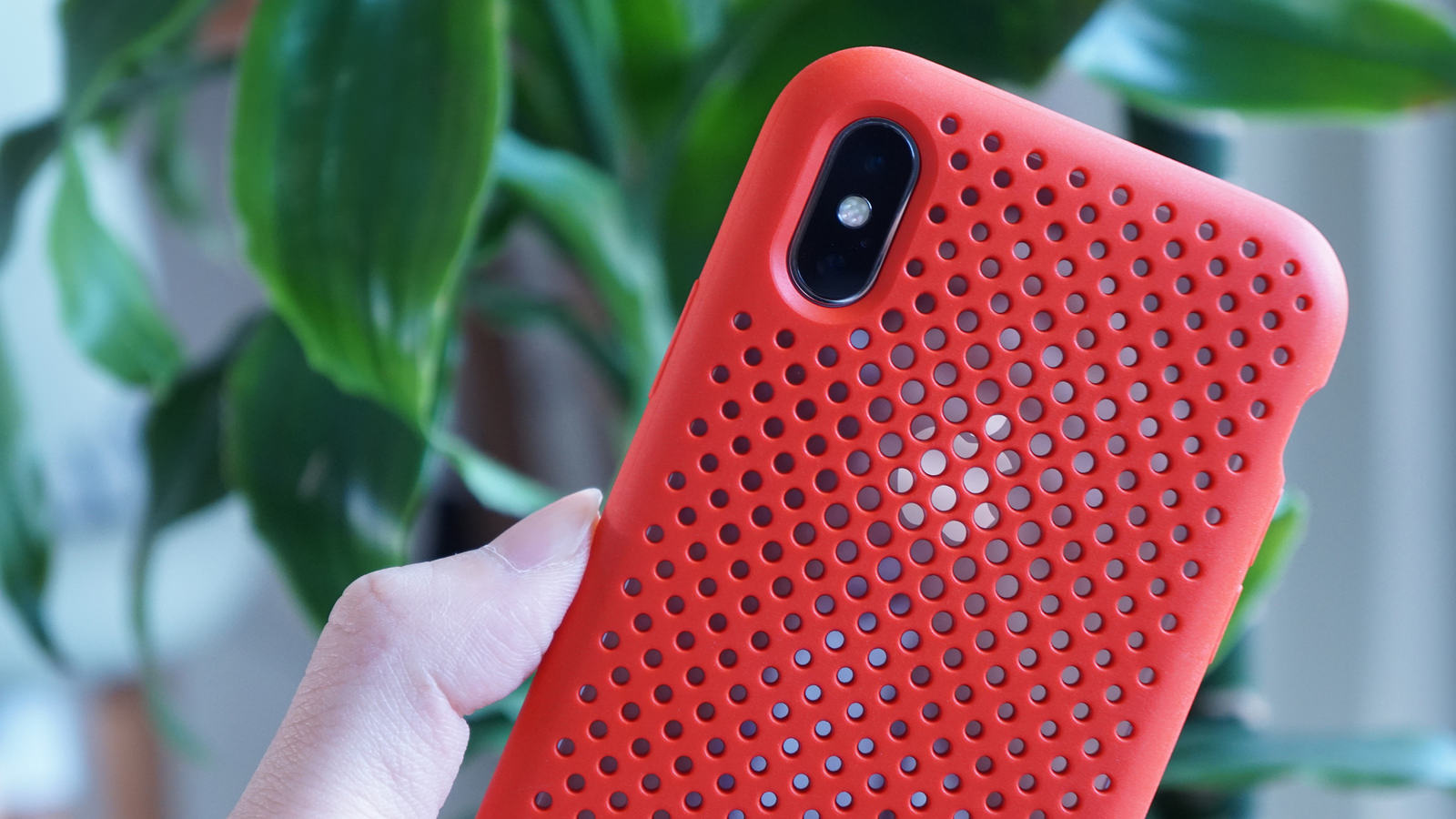 Appleロゴが透けて見えるメッシュケース「AndMesh Case for iPhone X」レビュー