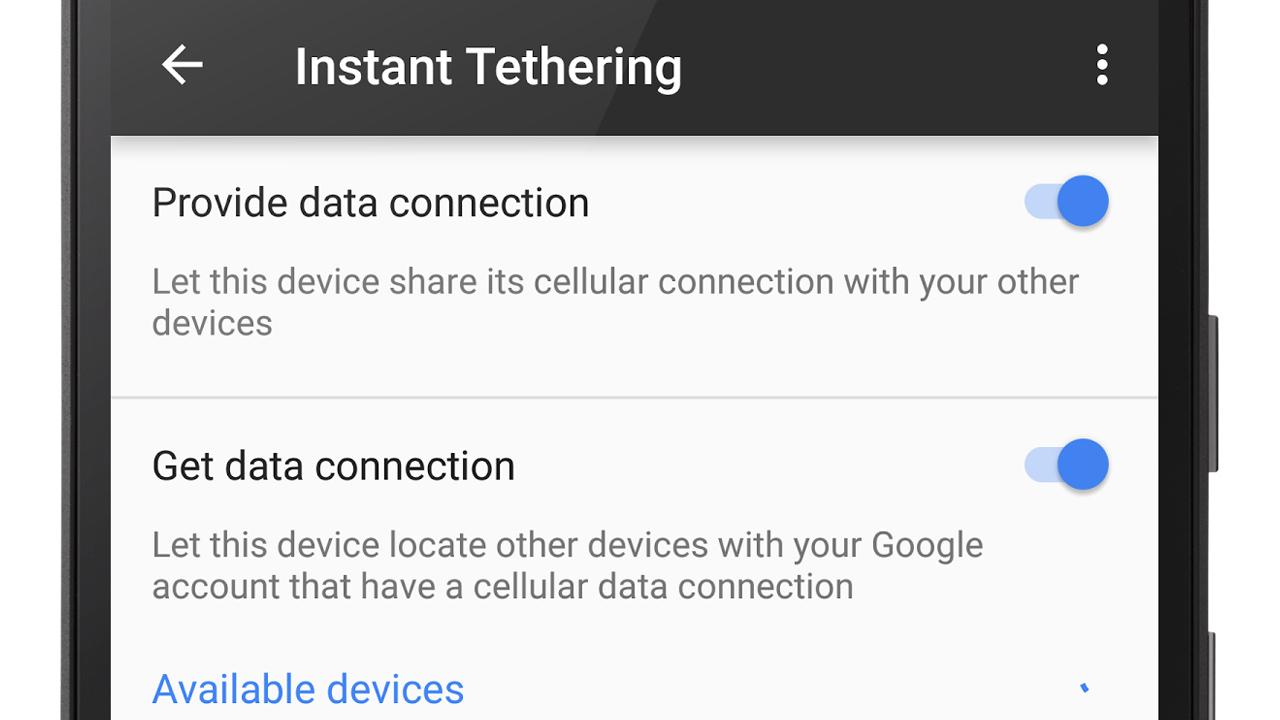 Androidのテザリングに自動接続する「インスタントテザリング」が提供開始