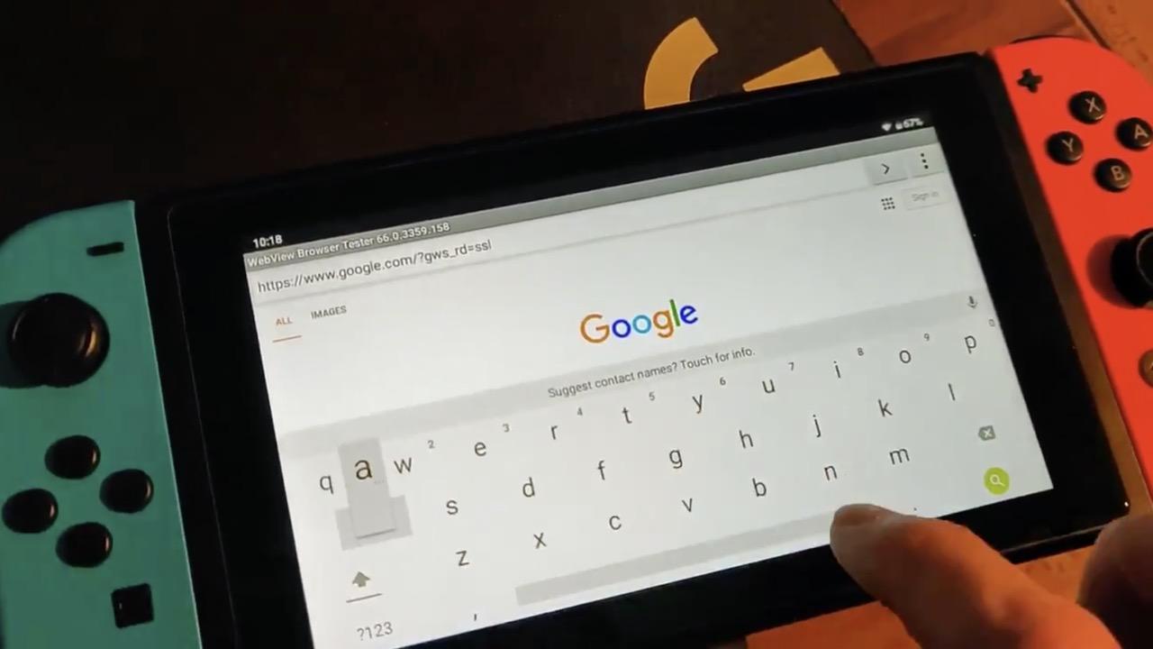 ニンテンドースイッチで「Android Q」を動作させた強者が登場