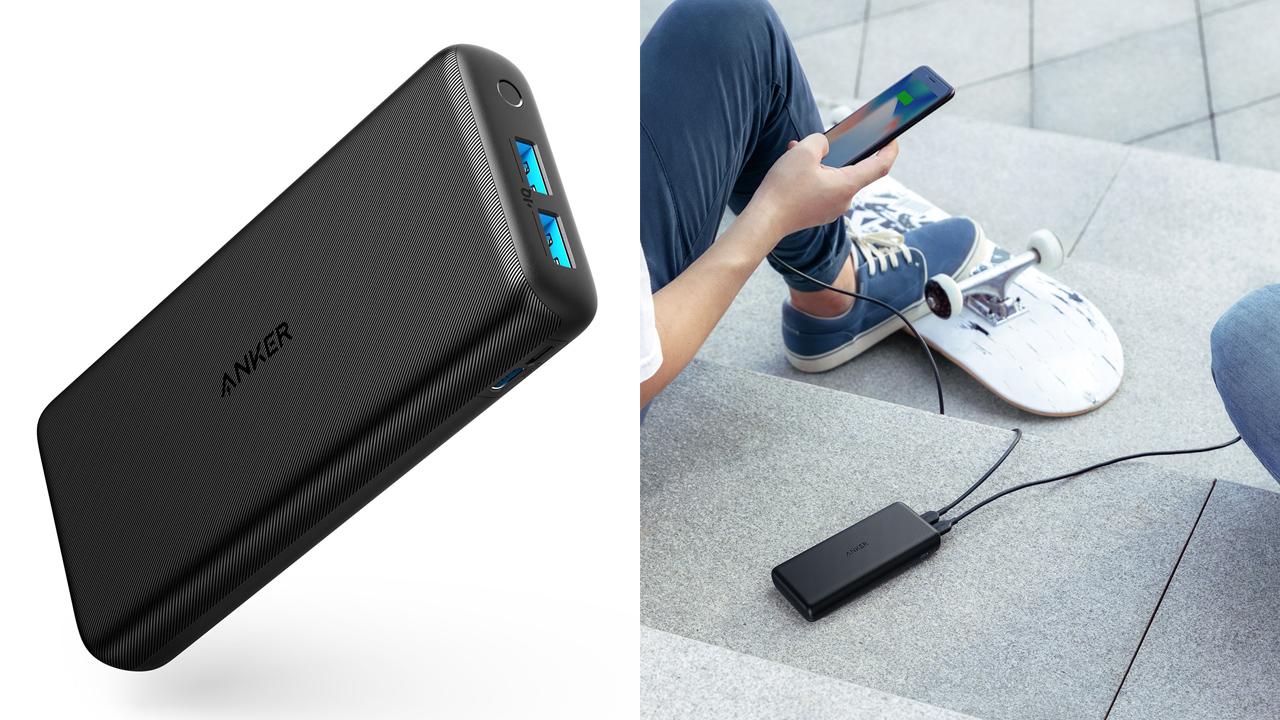 500個限定・500円オフ、2種類の入力端子&超大容量バッテリー「Anker PowerCore Lite 20000」発売