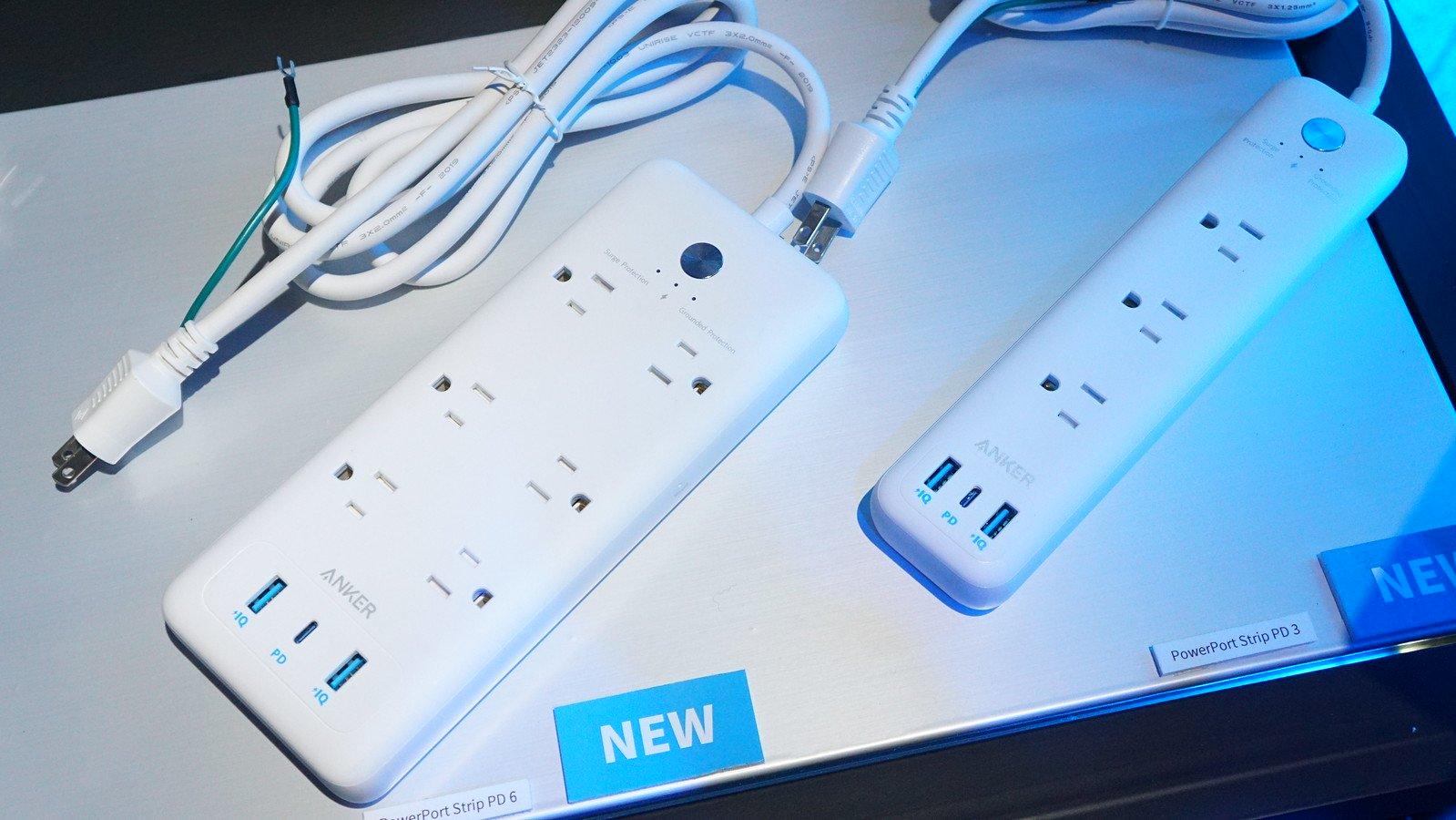 Anker、AC電源+USB-C付きの電源タップ「PowerPort Strip PD 3」を来春発売