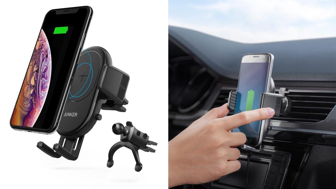 車でもワイヤレスでフルスピード充電、「Anker PowerWave 7.5 Car Mount」が発売