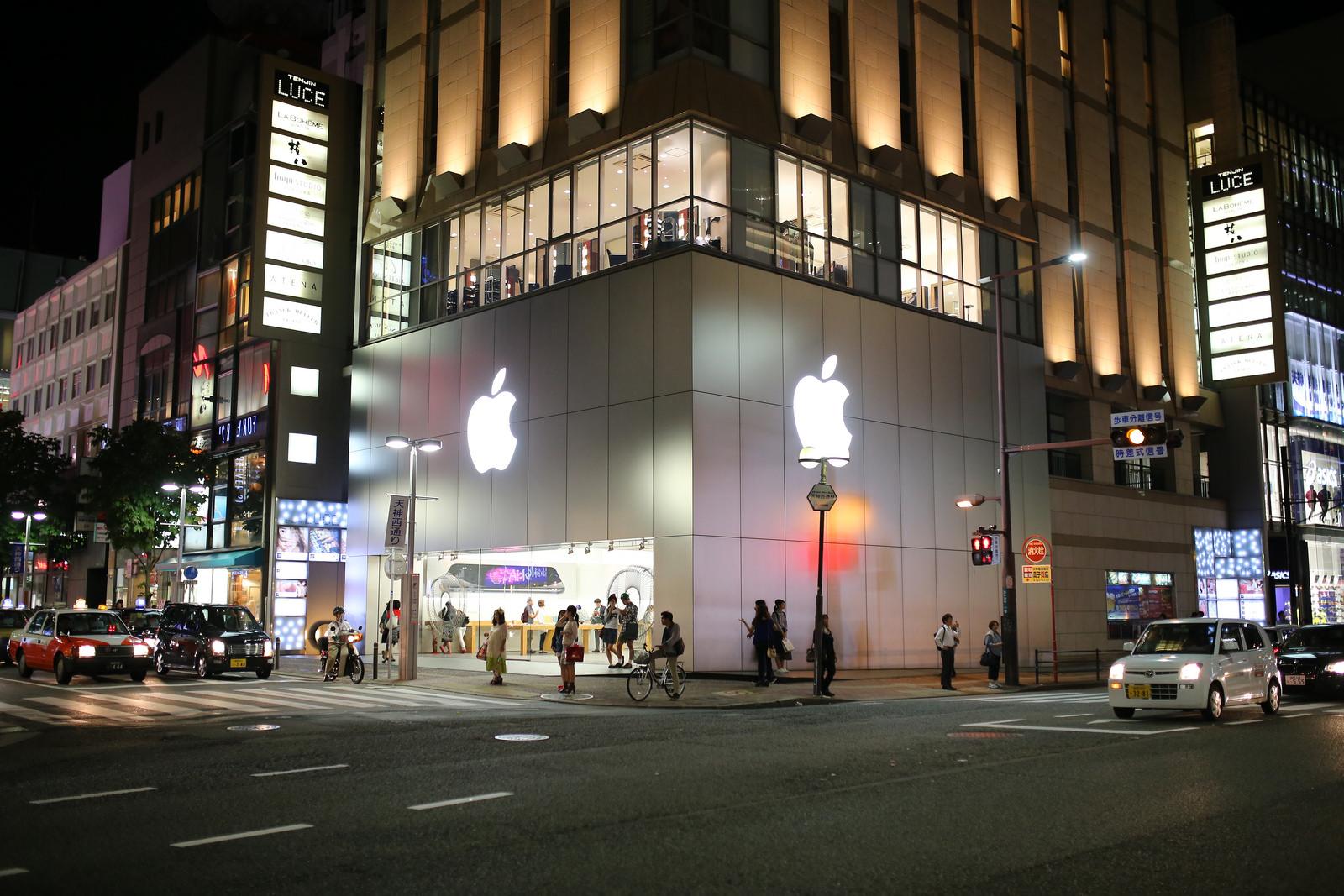 「Apple福岡天神」2019年初頭に移転か 大型の単独店舗としてオープン?