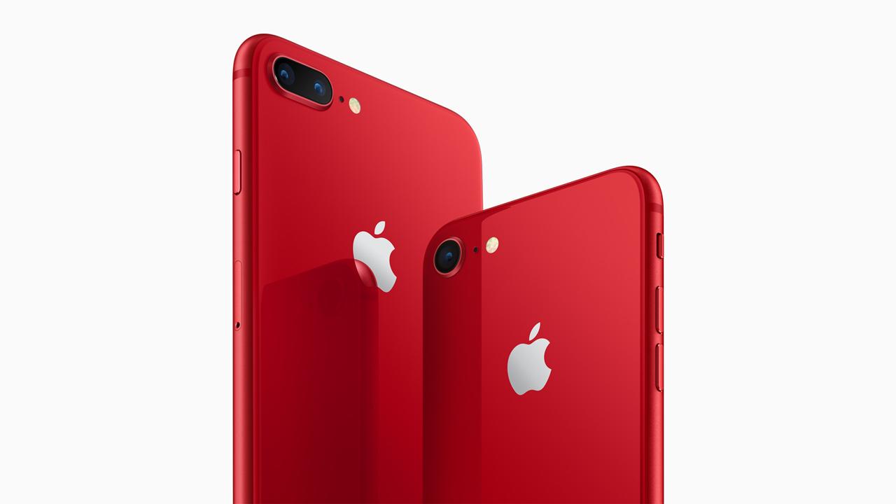 赤い新色、iPhone 8/iPhone 8 Plusの「(PRODUCT)RED」が4月13日発売。きょうから注文開始