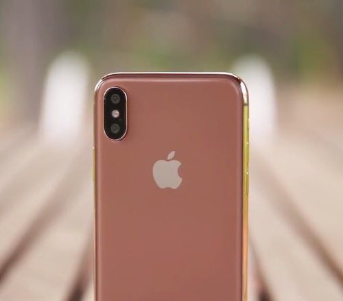 Apple、「iPhone X」の新色ブラッシュゴールド発表か