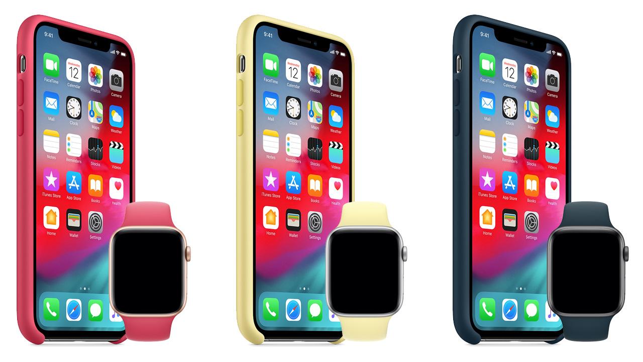 Apple、iPhone XS/XS Max・Apple Watchに秋冬の新色ケースとバンドを追加