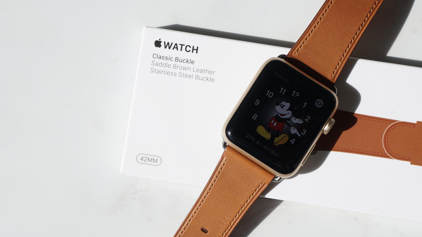 革素材で美しい伝統的デザイン「Apple Watch クラシックバックルバンド」レビュー