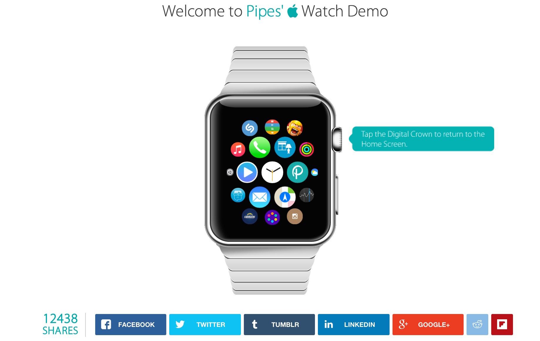 発売前にApple Watchを使用体験できるデモサイトが登場