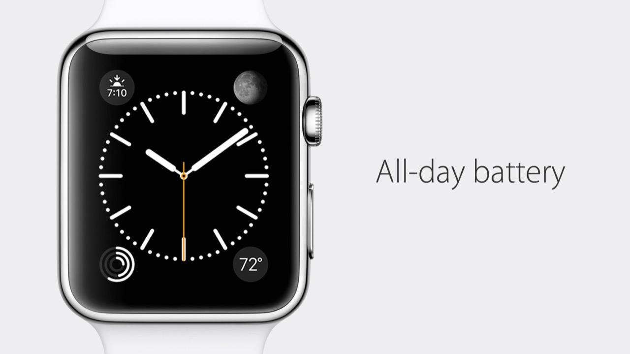 Apple Watchのバッテリーの持ち時間は最大72時間、通常18時間、最短3時間に